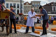 Mercado do queijo de Gouda Foto de Stock
