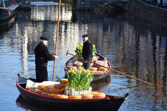 Mercado do queijo em Alkmaar Fotografia de Stock