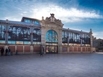 Mercado do século XIX de Narbonne Fotografia de Stock Royalty Free