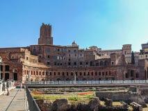 Mercado do ` s de Trajan em Roma, Itália imagem de stock