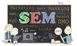 Mercado do Search Engine Fotos de Stock Royalty Free