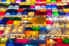Mercado do trem de noite de Ratchada, Banguecoque Imagem de Stock Royalty Free