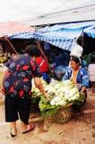 Mercado do tribo do monte Fotos de Stock Royalty Free