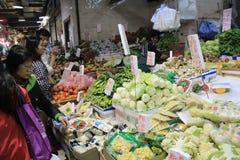 Mercado dos alimentos frescos de Hong Kong Imagens de Stock