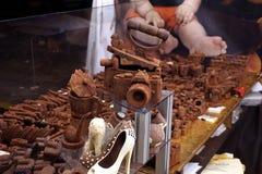 Mercado dos artigos do chocolate Imagens de Stock