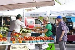 Mercado dos fazendeiros da cidade pequena Fotos de Stock Royalty Free