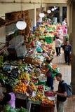 Mercado dos Lavradores rynek w Funchal, Portugalia zdjęcie royalty free