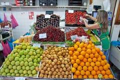 Mercado dos Lavradores rynek w Funchal, Portugalia zdjęcia stock