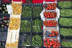 Mercado dos legumes frescos Fotografia de Stock Royalty Free