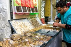 Mercado dulce en Túnez, Túnez foto de archivo