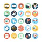 Mercado e ícones coloridos economia 4 do vetor Foto de Stock