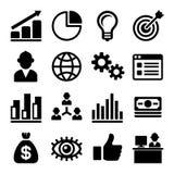 Mercado e CEO Icons Set Vetor Fotos de Stock Royalty Free
