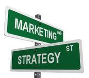 Mercado e estratégia Foto de Stock Royalty Free