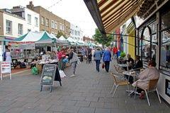 Mercado e tendas da baía de Herne Fotos de Stock Royalty Free