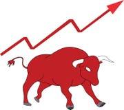 Mercado em com tendência para a alta Ilustração do vetor Fotografia de Stock Royalty Free