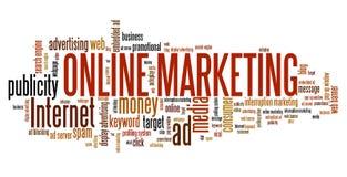 Mercado em linha ilustração stock