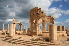 Mercado em magnum Líbia de Leptis Foto de Stock Royalty Free