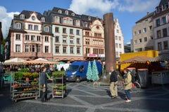 Mercado em Mainz fotos de stock royalty free