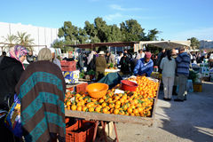 Mercado em Tunísia imagens de stock