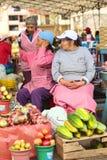 Mercado en Banos, Ecuador Imágenes de archivo libres de regalías