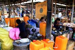 Mercado en Birmania, Myanmar Fotografía de archivo libre de regalías
