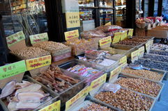 Mercado en Chinatown de New York City Imágenes de archivo libres de regalías