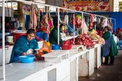 Mercado en Cusco, Perú Imagen de archivo libre de regalías