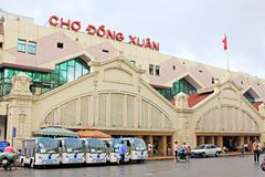 Mercado en Hanoi, Hanoi Vietnam foto de archivo