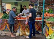Mercado en Hurghada, Egipto Imagen de archivo