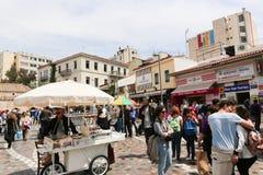 Mercado en la calle de Atenas, Grecia Foto de archivo