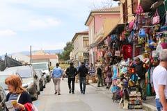 Mercado en la calle de Atenas, Grecia Imagen de archivo libre de regalías