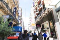 Mercado en la calle de Atenas, Grecia Imágenes de archivo libres de regalías