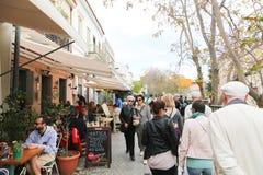Mercado en la calle de Atenas, Grecia Fotografía de archivo libre de regalías