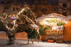 Mercado en Litomerice, República Checa de la Navidad Fotos de archivo libres de regalías