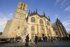 Mercado en los Dom de Munster, Alemania Imágenes de archivo libres de regalías