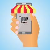 Mercado en móvil Foto de archivo libre de regalías