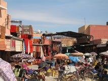 Mercado en Marrakesh Marruecos Foto de archivo