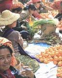 mercado en Myanmar foto de archivo libre de regalías