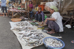 Mercado en Phnom Penh, Camobodia Fotos de archivo