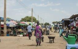 Mercado en Sudán del sur Fotos de archivo