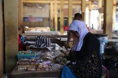 Mercado en Wonosobo Fotos de archivo libres de regalías
