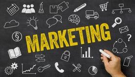 Mercado escrito em um quadro-negro Imagem de Stock