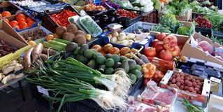 Mercado espanhol Imagem de Stock