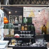 Mercado esquisito de Spitalfields Foto de Stock Royalty Free