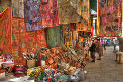 Mercado famoso de Jerusalén. Imagen de archivo