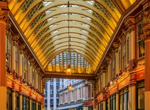 Mercado famoso de Leadenhall en Londres Reino Unido Fotografía de archivo