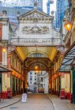 Mercado famoso de Leadenhall en Londres Reino Unido Foto de archivo libre de regalías