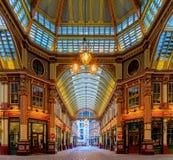 Mercado famoso de Leadenhall en Londres Reino Unido Fotos de archivo