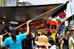 Mercado ferroviario de Bangkok fotografía de archivo