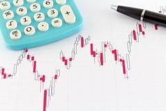 Mercado financiero de la carta del mercado de acción Imagenes de archivo